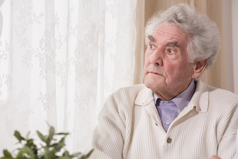 Thoughtful senior man, for article on how to Set limits during illness