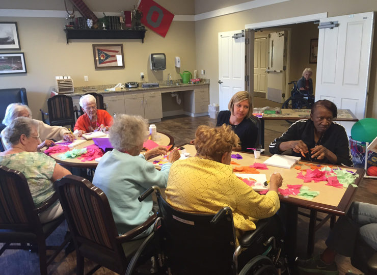 Summit Home Health Care Residents Crafts