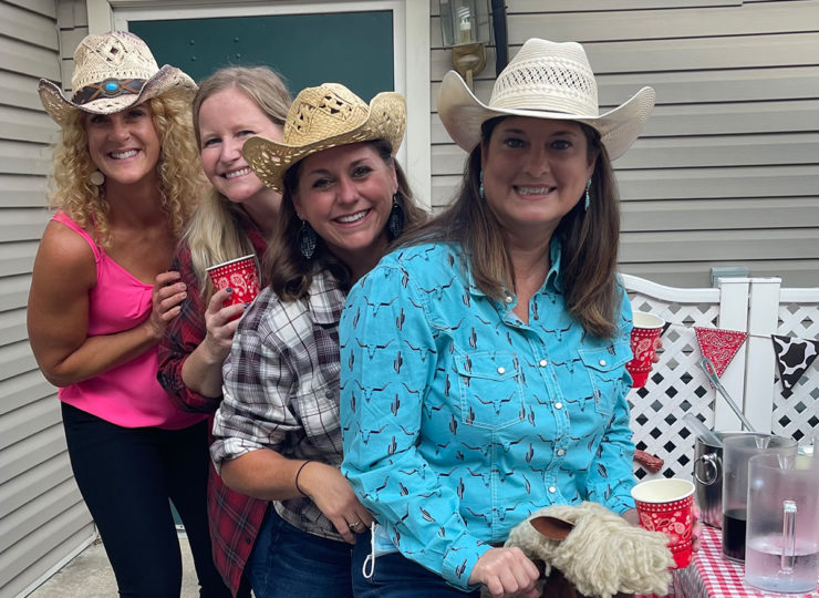 Summit Home Health Care Caregivers Dressed as Cowgirls