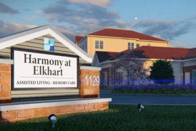 Harmony at Elkhart sign